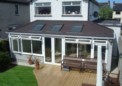 Large Conservatory with Brown Roof