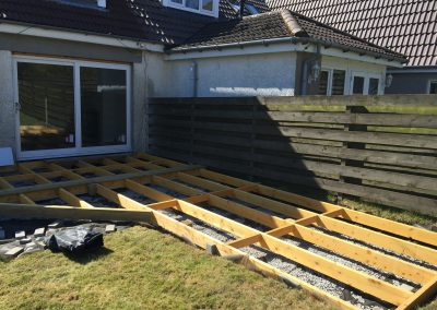 Decking and Cladding being installed in garden