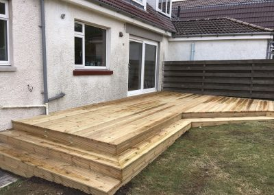 cladding decking with two steps