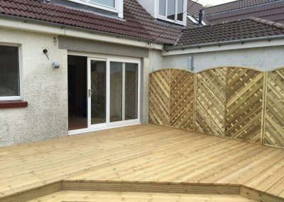 Cladding Decking with porch doors open